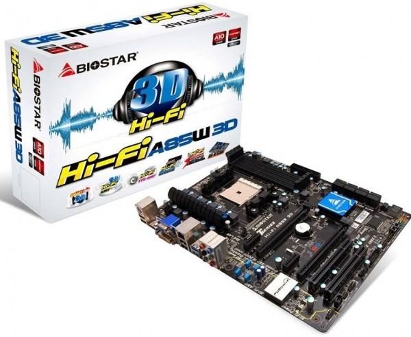 BIOSTAR Hi-Fi A85W 3D Motherboard