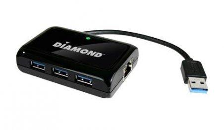 Diamond Multimedia USB303HE Three-Port SuperSpeed USB 3.0 Hub and Mini Docking Station Unveiled