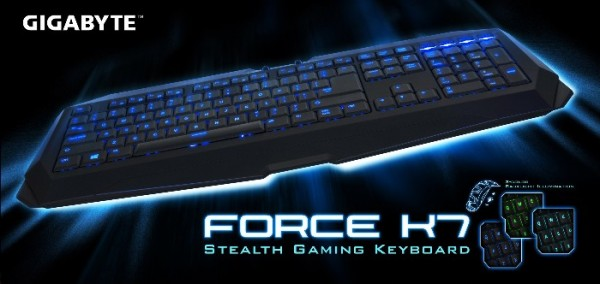 GIGABYTE FORCE K7 Stealth Gaming Keyboard Launched