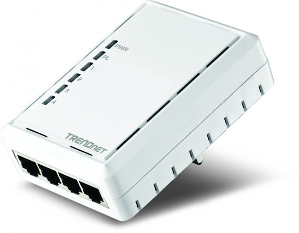 TRENDnet Powerline 500 AV Adapter with Four Integrated Ports Launched