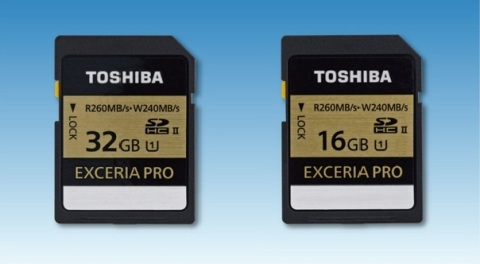 Toshiba EXCERIA SD Memory Cards Offering World-Fastest Write Speed Unveiled