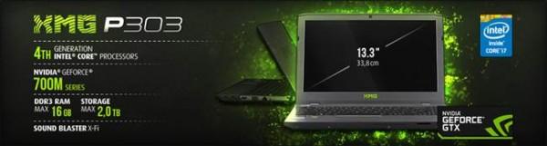 Schenker XMG P303 HD Laptop Announced