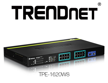 TRENDnet TPE-1620WS Gigabit Web Smart PoE+ Switch Launched