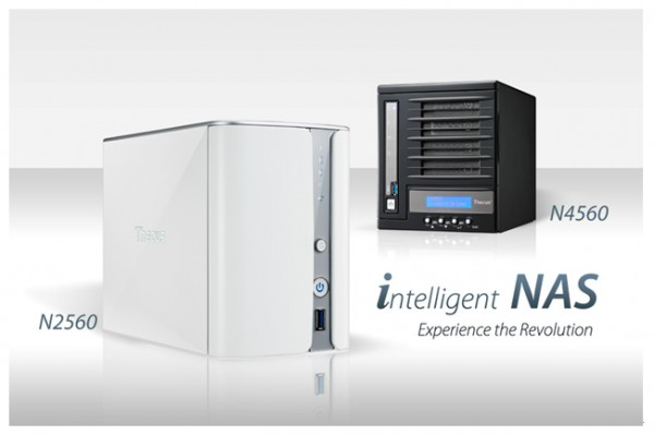 Thecus Updated N2560 2-bay and N4560 4-bay NAS Announced