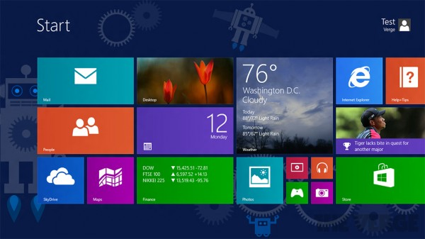 Microsoft Windows 8.1 GUI