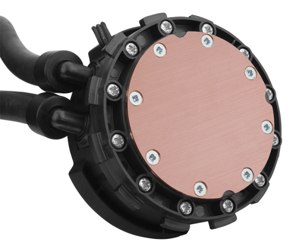 Corsair Hydro H75 Liquid CPU Cooler copperplate
