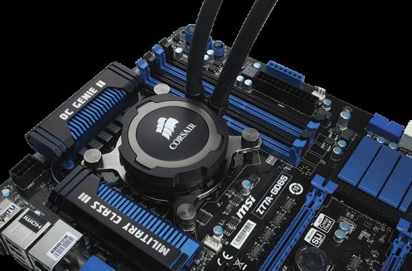 Corsair Hydro H75 Liquid CPU Cooler motherboard