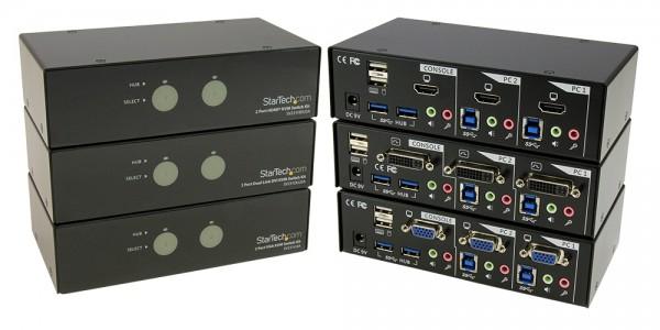 StarTech.com USB 3.0 Dual Port KVM Switches Announced