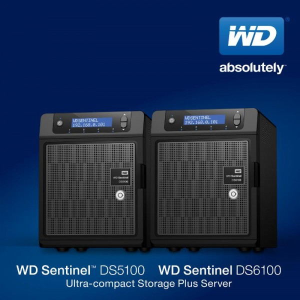 WD Sentinel DS5100 and DS6100 Ultra-compact Network Storage Plus Servers Introduced