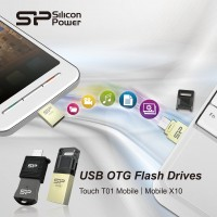 SP/Silicon Power Mobile X10 and Touch T01 Mobile USB OTG Flash Drives Introduced