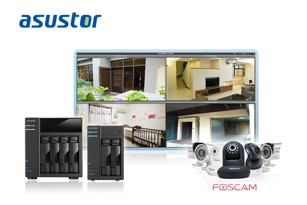 ASUSTOR Announces NAS Supports Foscam IP Cameras
