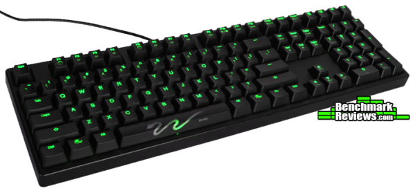 Ducky Shine 3 DK9008 Green LED Angled View