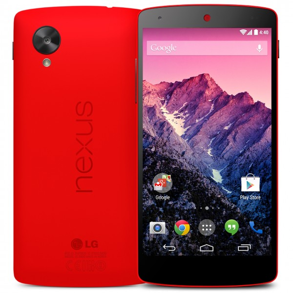 LG and Google Nexus 5 Red Announced