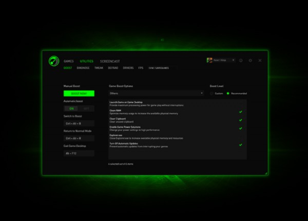 Razer Game Booster Software Updated