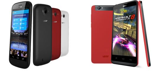 YEZZ Andy A5QP and Andy A5VP Smartphones Debut