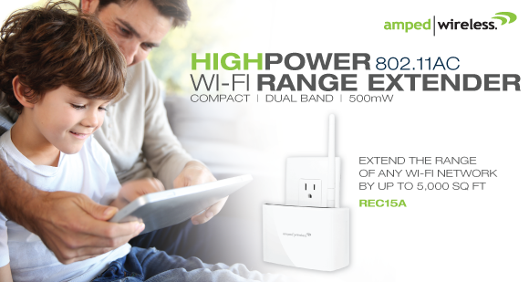 Amped Wireless REC15A WI-FI Range Extender Introduced