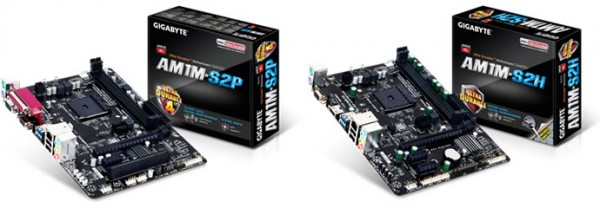 GIGABYTE GA-AM1M-S2P and GA-AM1M-S2H Motherboards Announced