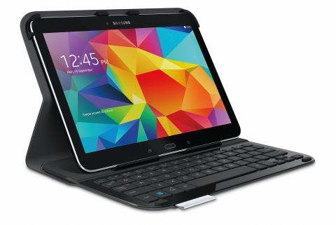 Logitech Ultrathin Keyboard Folio Keyboard Case for Samsung Galaxy Tab 4 10.1 Introduced