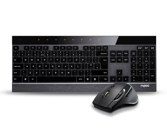 Rapoo 8900P Advanced Wireless Mouse and Keyboard Set Released