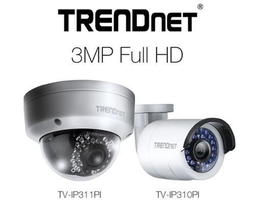 TRENDnet TV-IP311PI and TV-IP310PI Outdoor Three-Megapixel Network Cameras Unveiled