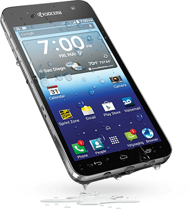 Kyocera Hydro Vibe Waterproof Smartphone Launched