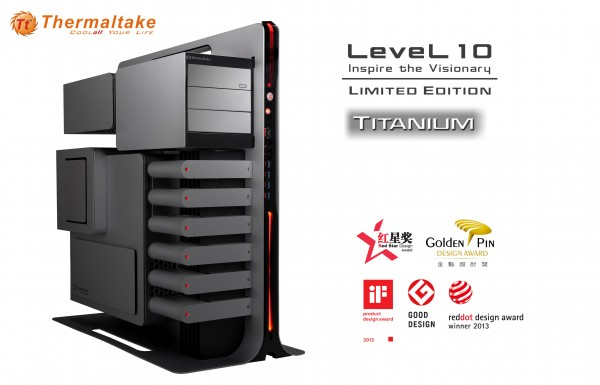 Thermaltake Titanium Limited Edition Level 10 Gaming Station Announced