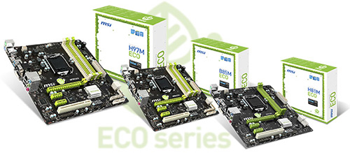 MSI ECO Series Motherboards Introduced