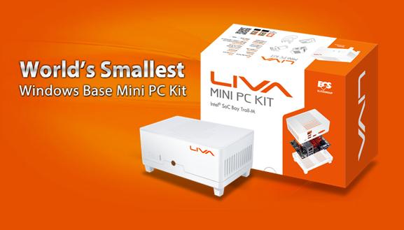 ECS LIVA Mini White Edition 64GB Mini PC Kit Debuts