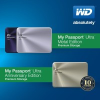 WD My Passport Ultra Metal Edition and Anniversary Edition Drives Announced