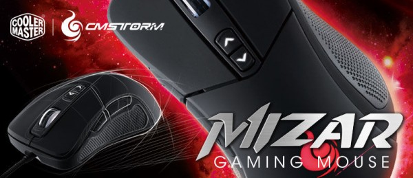 Cooler Master CM Storm Mizar Gaming Mouse Launched