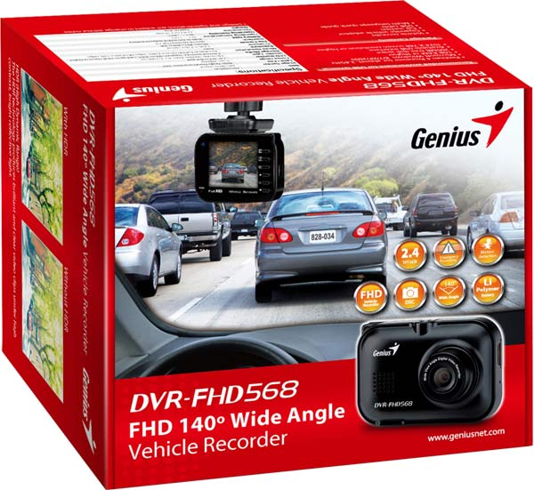 Genius-DVR-FHD568-Vehicle-Recorder-Package