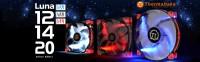 Thermaltake Luna Series LED Case Fans Released