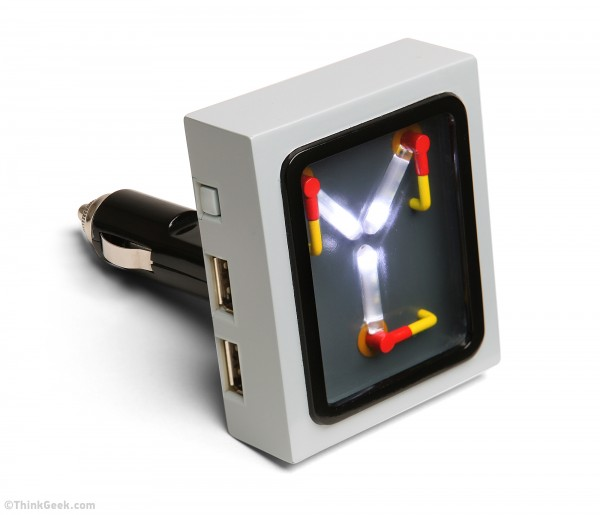 ThinkGeek Flux Capacitor Car Charger Introduced