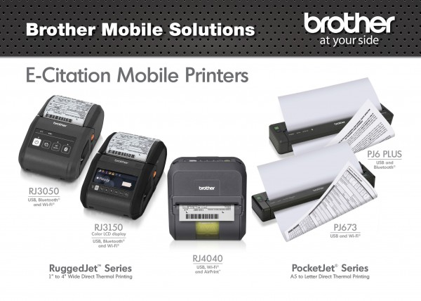 Brother Mobile Solutions PocketJet and RuggedJet Mobile Printers Debut