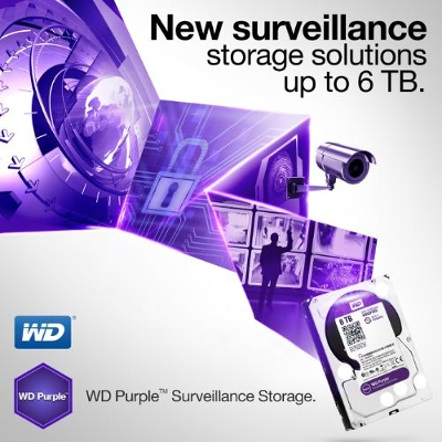WD Purple 6 TB Surveillance-Class Hard Drive Launched