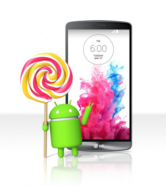 LG G3 Smartphone to Receive Android 5.0 Lollipop OS Upgrade