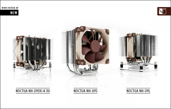 Noctua NH-U9S, NH-D9L and NH-D9DX i4 3U 92mm CPU Coolers Announced