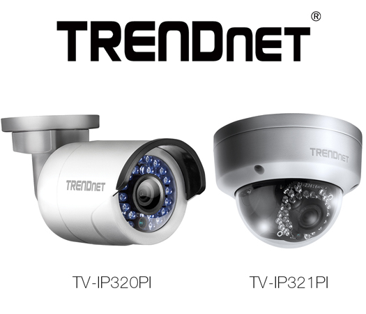 TRENDnet TV-IP320PI and TV-IP321PI Outdoor Network Cameras Announced