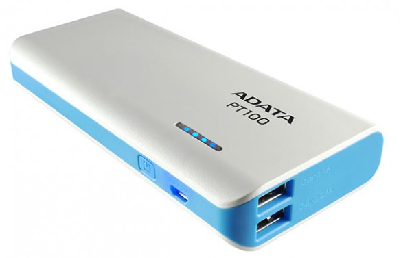 ADATA PT100 Dual USB Fast Charge Power Bank Launched