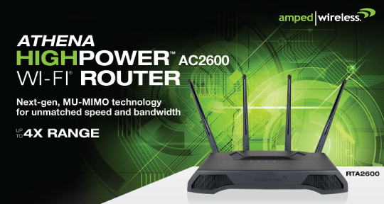 Amped Wireless Athena HighPower AC2550 Router Unveiled