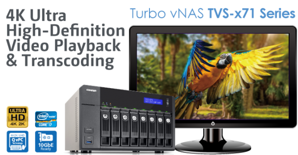 QNAP TVS-x71 Series Turbo vNAS Launched