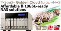QNAP and AMD TVS-863+ Golden Cloud Turbo vNAS Launched