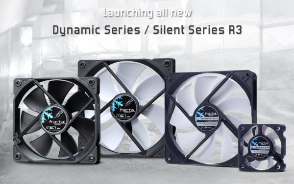 Fractal Design Silent Series R3 Fans Announced