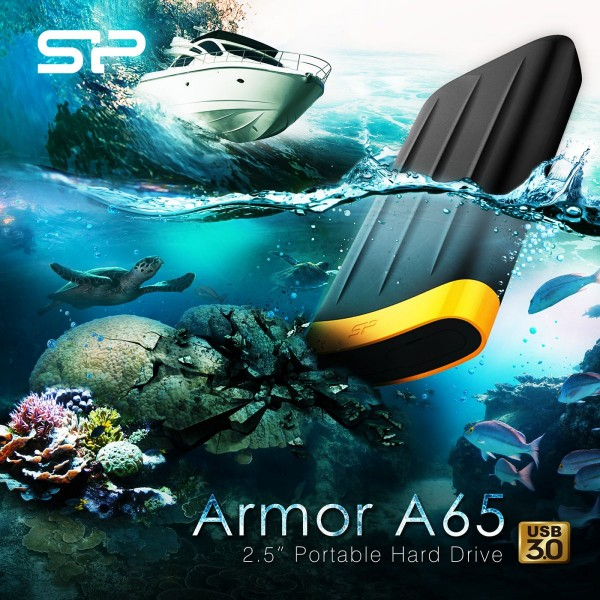 SP/ Silicon Power Armor A65 Water/Dust Resistant Portable Hard Drive Launched