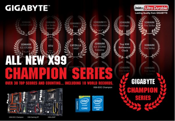 GIGABYTE X99 Champion Series Motherboards Released