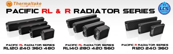 Thermaltake Pacific RL and R Series Radiators Debut