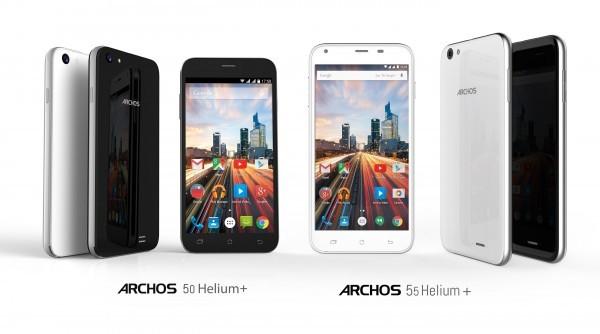 ARCHOS 50 Helium Plus and 55 Helium Plus Smartphones Debut