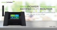 Amped Wireless TAP-R3 AC1750 Wi-Fi Router with Touch Screen Announced