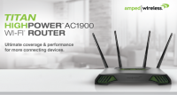 Amped Wireless TITAN AC1900 Wi-Fi Router Introduced