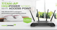 Amped Wireless TITAN-AP High Power AC1900 Wi-Fi Access Point Released